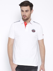 Being Human Clothing White Polo T-shirt