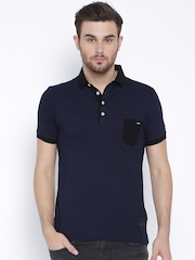Being Human Clothing Navy Polo T-shirt