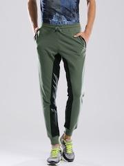 HRX by Hrithik Roshan Olive Green Jogger Track Pants