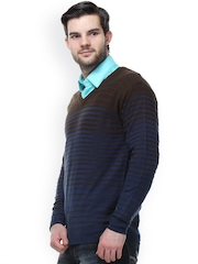 Crimsoune Club Navy Striped Sweater
