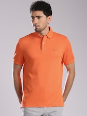 Tommy Hilfiger Orange Classic Fit Polo T-shirt
