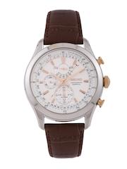 SEIKO Men Chronograph Off-White Dial Watch SPC129P1