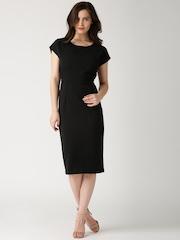 DressBerry Black Polyester Sheath Dress