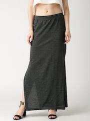 DressBerry Charcoal Grey Maxi Skirt