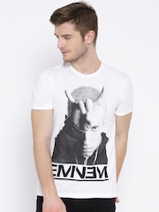 Eminem White Printed T-shirt