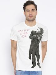 Batman White Printed T-shirt