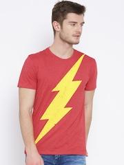 DC Comics Red Flash Print T-shirt