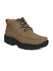 Action Men Brown Nubuck Hiking Shoes