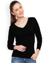 Alba Black Slim Fit T-Shirt