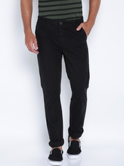 ROUTE 66 Black Slim Fit Chino Trousers