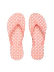 PUMA Women Peach-Coloured Pro Textured Printed Flip-Flops