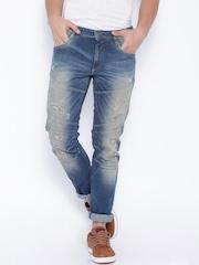 Jack & Jones Blue Washed Glenn Slim Fit Jeans