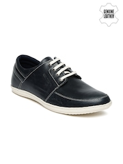 Red Tape Men Navy Genuine Leather Sneakers