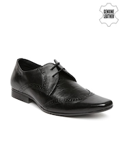 Red Tape Men Black Genuine Leather Brogues