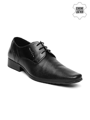 Red Tape Men Black Genuine Leather Derbys