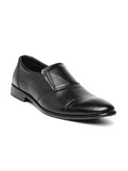 Numero Uno Men Black Leather Semiformal Shoes