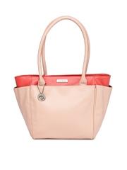 Caprese Peach-Coloured & Coral Pink Handbag