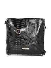 Caprese Black Patterned Sling Bag