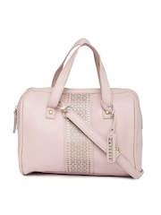 Caprese Pink Cut-Work Handbag