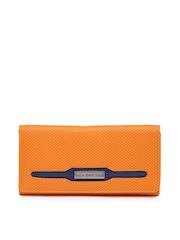 Caprese Women Orange Textured Wallet