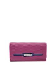 Caprese Women Magenta Textured Wallet