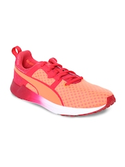 PUMA Women Peach-Coloured & Red Pulse XT Core Training Shoes