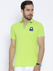 United Colors of Benetton Neon Green Polo T-shirt