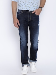 United Colors of Benetton Navy Washed Slim Jeans