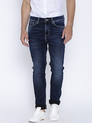 United Colors of Benetton Navy Washed Carrot Fit Jeans