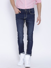 United Colors of Benetton Blue Washed Super-Skinny Jeans