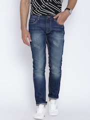 United Colors of Benetton Blue Washed Slim Jeans