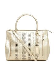 Steve Madden Gold-Toned Cut-Work Handbag
