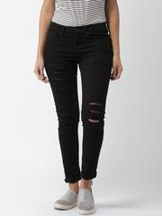 Moda Rapido Black Skinny Fit Jeans