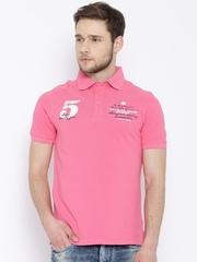 American Swan Pink Polo T-shirt