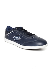 Lotto Men Navy Perforated Sports Shoes