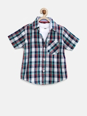 612 League Boys Multicoloured Checked Clothing Set