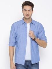 Wrangler Blue Denim Casual Shirt