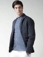 Celio Navy Printed Jacket