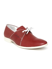 Red Chief Men Red Leather Casual Shoes