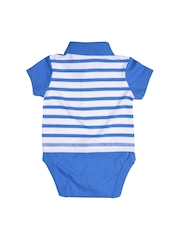 mothercare Boys Blue & White Striped Bodysuit