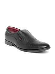 Red Chief Men Black Genuine Leather Formal Shoes