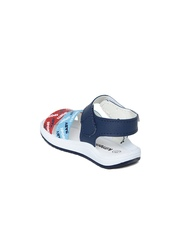 Kittens Boys Blue & Red Printed Sports Sandals