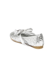 Kittens Girls SIlver-Toned Mary Janes