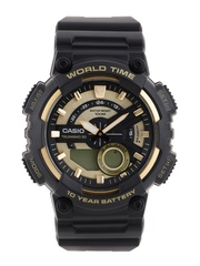CASIO Youth Series Men Gold-Toned Analogue & Digital Watch AD206