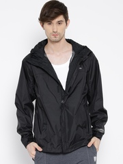 Columbia Black Watertight Hooded Rain Jacket