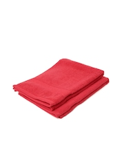 Portico New York Red Ultra Absorbent Set of 2 Hand Towels