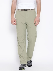 Columbia Beige Silver Ridge Convertible Cargo Trousers