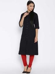 Shree Black Woven Design Kurta