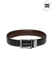 Peter England Men Black & Brown Reversible Leather Belt
