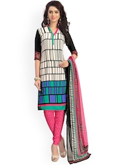 Vaamsi Multicoloured Printed Crepe Unstitched Dress Material